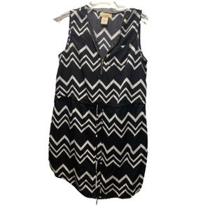 Divina zig zag pattern sleeveless dress